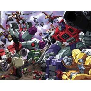 Transformers Armada Battle Scene Poster: Toys & Games
