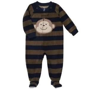 Carters Boys One Piece Fleece Footed Blanket Sleeper Pajama Navy Blue