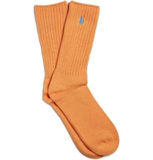 Accessories  Socks  Casual socks  Orange Ribbed Logo