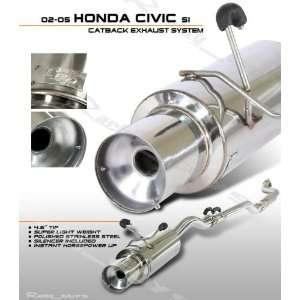 02 05 Honda Civic Si Cat back Exhaust System Automotive