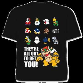 Super Mario Bösewichte Nintendo Shirt