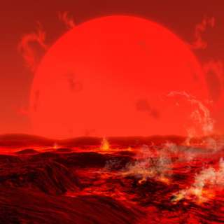 The Sun Seen from a Molten Earth 3 Billion Years from Now Photographic