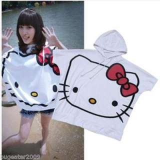 Hellokitty Girl Cute White T Shirt Short Bat Sleeve