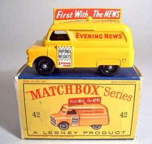 Matchbox RW No.42A Evening News Van black wheels m/b