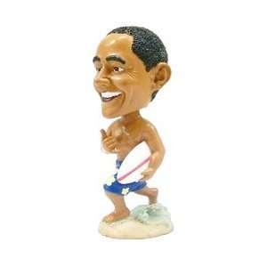 Barack Obama Bobble Head Doll   Surfing / 6 Tall