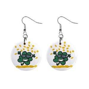 Irish Shamrock Clover St Patricks Day Dangle Earrings