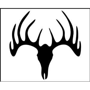 Decal   Hunting / Outdoors   Deer Skull   Truck, iPad, Gun or Bow Case