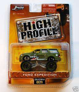 JADA HIGH PROFILE FORD EXPEDITION GREEN ARMY NEW W2
