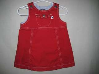Tommy Hilfiger Red Logo Jumper Dress Girls 6 12 Months