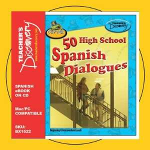 50 High School Spanish Dialogues Book on Cd Teachers
