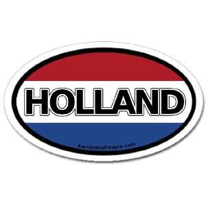 Holland NL Netherlands Dutch Flag Car Bumper Sticker Decal