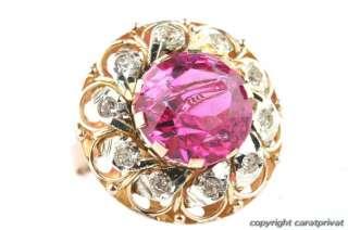 Gold Ring 585 mit rosa Stein Goldschmuck Damenring