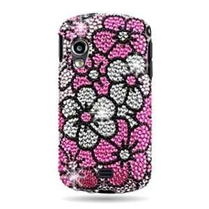 WIRELESS CENTRAL Brand Hard Snap on case With PINK FLOWER