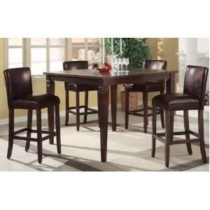 Bar Chairs with Brown Faux Leather #PD F21303,f11246