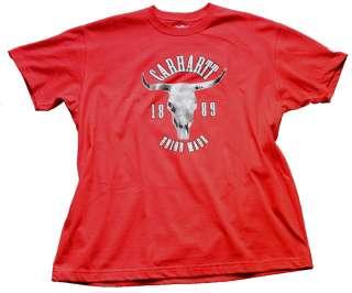 Carhartt EK045 Cowboy Heritage Graphic T Shirts Gr L
