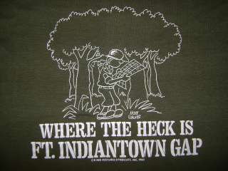 vintage BEETLE BAILEY FT INDIANTOWN GAP SOFT t shirt M