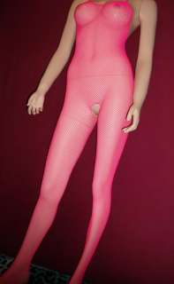 NETZ CATSUIT PINK Ouvert Bodystocking Gothic CYBER Punk