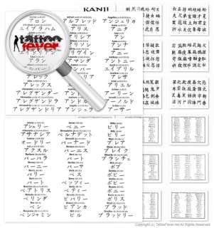 Chinese Namen Tattoo   Vorlagen + Reseller Lizenz
