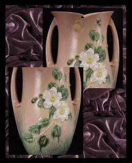 Roseville  White Rose Vase (992 15) c.1940s