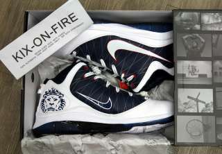 NIKE LEBRON JAMES VII 7 PS 15 Navy White playoff south beach galaxy