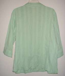 WOMENS PLUS SIZE CLUB Z COLLECTION SHORT SLEEVE GREEN SHIRT TOP SZ 2X