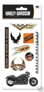 Harley Davidson Motorcycle Night Rod Logo Stickers