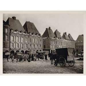 1927 Charleville Mezieres France Place Ducale Carts