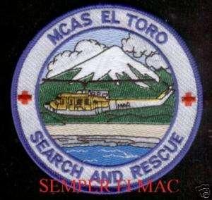MCAS EL TORO SEARCH & RESCUE PATCH US MARINE MARINES OC