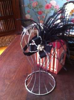 girls or woman feather headband or photo prop with designer bow