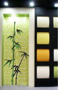 Green bamboo Wall Decor Decal Art graphics Vinyl Sticker