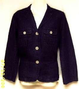 Womens Ralph Lauren Dark Blue Denim Blazer Jacket Coat Size Large 14