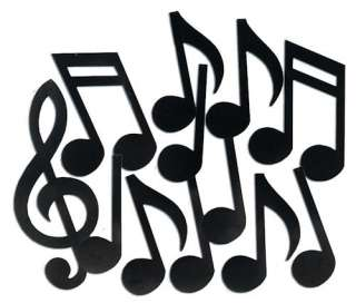 Music Notes Silhouettes Theme Cutout Party Decorations