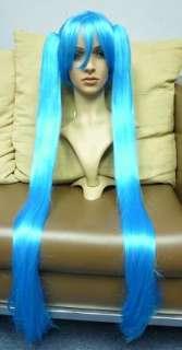 VOCALOID Hatsune MIKU COSPLAY wig 1m straight long Blue