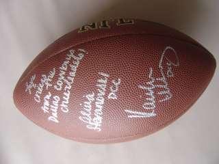 DALLAS COWBOYS CHEERLEADERS SIGNED FOOTBALL PROOF