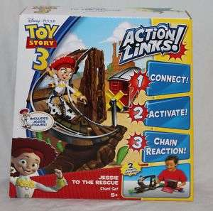 TOY STORY 3 JESSIE TO THE RESCUE ACTION LINKS STUNT SET