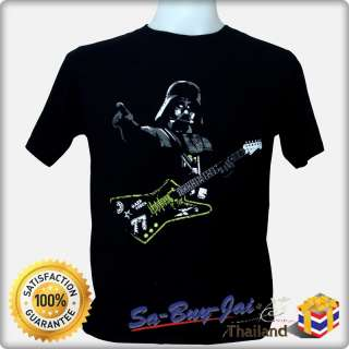 SHIRT FUNNY HUMOR STAR WARS ROCK DARTH VADER GUITAR