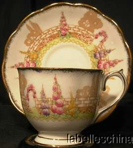 Albert Crown China Greenways Teacup and Saucer vintage tea cup