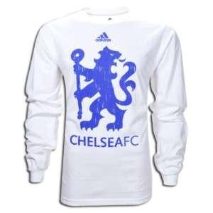 adidas CHELSEA Big BADGE SOCCER 2011 LS Fan Shirt WHT