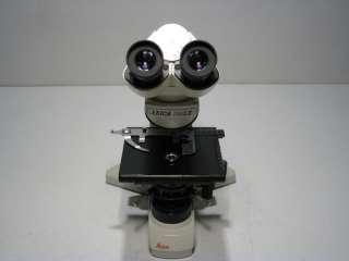 DM LS BINOCULAR LAB MICROSCOPE DMLS COMPLETE W/ OBJECTIVES 10X/100X BH