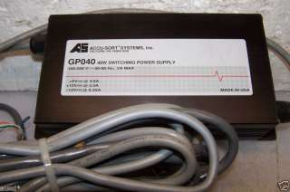 ACCU SORT GP040 SWITCHING POWER SUPPLY & CABLES GP040A