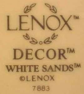 Lovely WHITE SANDS DINNER PLATE w PINK TRIM Lenox NICE