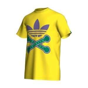 Adidas Torsion Tee Shirt Herren Farbe gelb/lila/grün