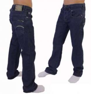 Star Blade Loose Men Jeans Dark Blue  Bekleidung