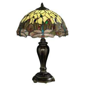 Springdale Lighting Tiffany Dragonfly Collection 22 in. Antique Bronze