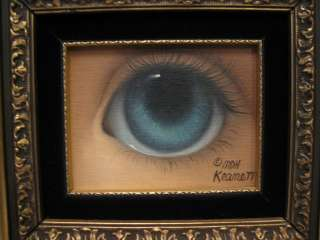 Margaret Keane Original Oil Canvas Painting Big Blue Eye 1/1