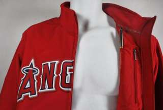 MAJESTIC JACKET ANAHEIM ANGELS PREMIERE AUTHENTIC MLB BASEBALL RED AND
