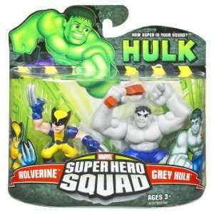 Marvel Super Hero Squad   Wolverine und Grey Hulk Action Figur
