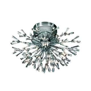 Eurofase Lenka Collection 43 Light Flush Mount Chrome Light F 43LEK 15