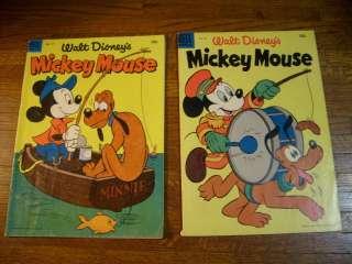 WALT DISNEYS MICKEY MOUSE #37, 40, 42, 431954 and 1955 DELL COMICS