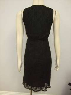 NWOT Princess Closet Anthropologie Black Lace Wrap Dress
